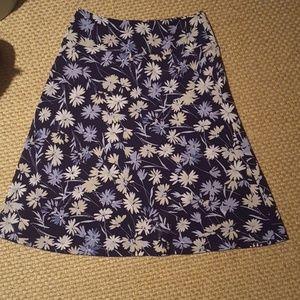 Christopher & Banks Blue Floral skirt